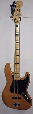 Squier by Fender Vintage Modified Jazz Bass '70s Natural Maple Black Block Inlay