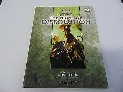 Sword & Sorcery Ptolus The Night Of Dissolution D20 System Monte Cook Gm48