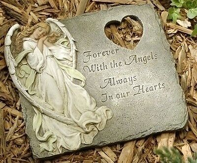 Memorial Garden Angel Stepping Stone Remembrance Decor