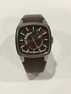 Diesel Men's DZ1528 Stainless 5 Bar Watch w/ Brown Face & Brown Leather Band
