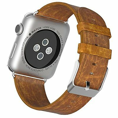 Apple Watch Band, JETech® 42mm Genuine Leather Strap Wrist Bands Replaceme...NEW