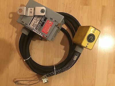 Temporary Power 12' 12-4 SO Cord W/ GE DFPTQLX4 Buss Breaker 2 Sided Ericson Box