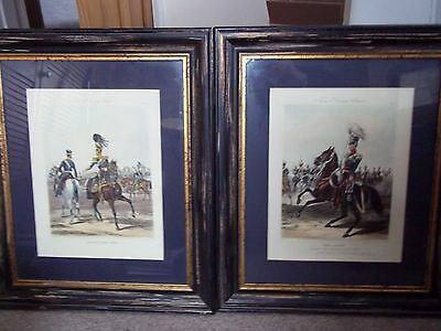 4 Framed Original Fores Military Prints - Mid 1800's - Scarce