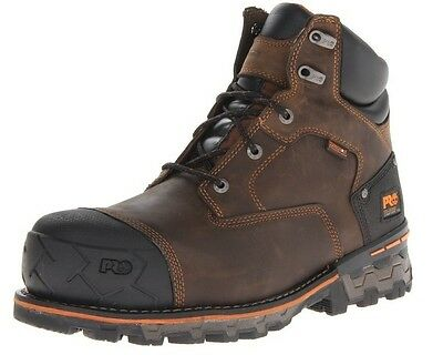 """New Timberland Pro TB092615214 Boondock 6"""" Brown Men's Work Boots Size 8.5 M US"""