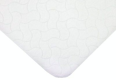 Waterproof Embossed Quilt-like Portable/Mini Protective Mattress Pad Cover White