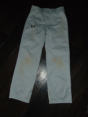 UNDER ARMOUR Boys LOOSE Fit Gray BASEBALL PANTS Size YMED  Youth MEDIUM