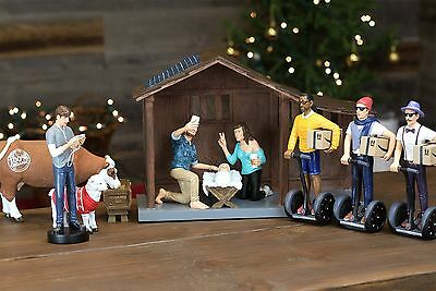 Millennial Nativity Figurine and Stable Set - Hipster Nativity Scene - Holida...