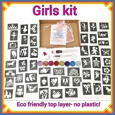 Girls GLITTER TATTOO KIT Party 158 OR REFILL ITEMS