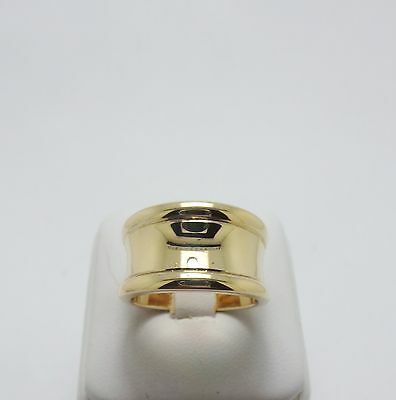 Solid 9Ct Yellow Gold Wide Concave Ring Valued @$1346 Comes With Valuation-10 Gr