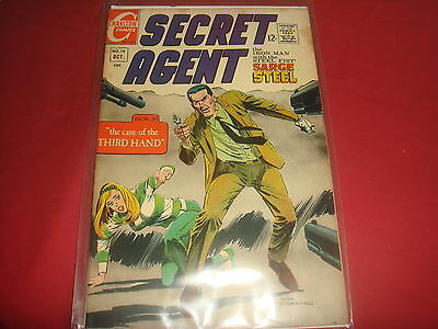 SECRET AGENT #10 Sgt Steel Silver Age Charlton Comics 1967 VF-