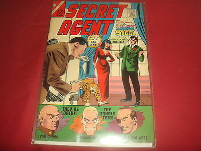 SECRET AGENT #9 Sgt Steel Silver Age Charlton Comics 1966 VF-