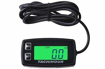 Contempo Views Tach/Hour Meter HM035R: Backlight LCD gasoline Inductive Tacho...