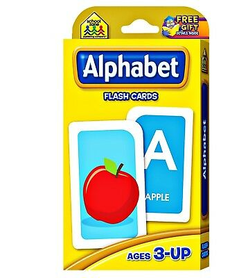 Alphabet Flash Cards Learning Kids word Brighter Child Flashcards Set School Abc