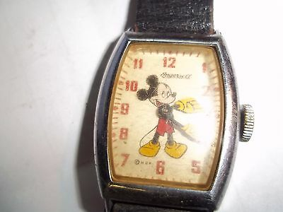 1940's Ingersoll Mickey Mouse Wind Up Watch Working