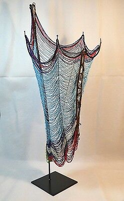 Scarce African Sudan Dinka Men's Beaded Corset, Malual, On Custom Built Stand