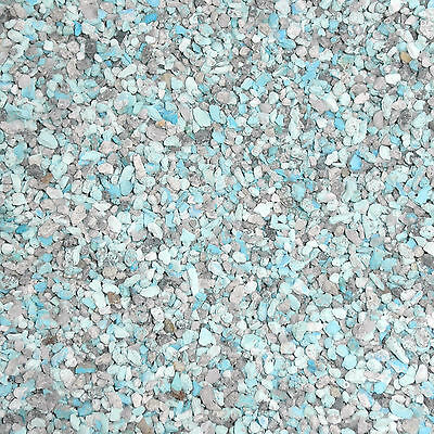 Crushed Natural Kingman Turquoise Material 2 Pound for stone & wood inlay