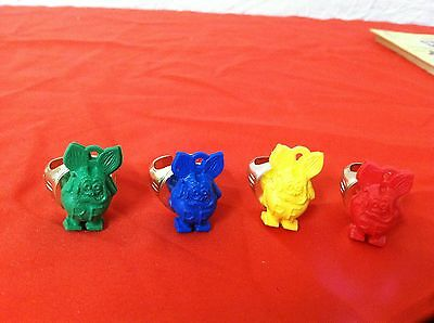4 vtg NOS RAT FINK PREMIUM PROMO RINGS/CHARMS unused BIG DADDY ROTH Rat Rod RARE