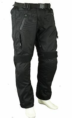 Mens Motorbike Motorcycle Trousers Armour Protection Waterproof