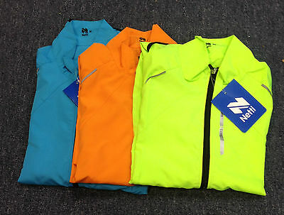 Netti cycling jacket hub mens long sleeved turquoise,orange or yellow NEW