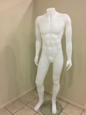 Male Headless Mannequin For Clothes Window Dressing Full Body White