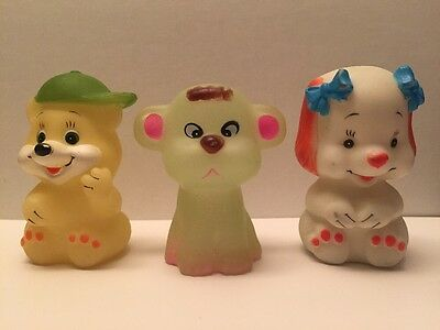 Vintage Glow Animals, Pals, Friends, Glow-in-the-Dark, Glo, Lot, Toy, Figure