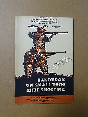 Vintage Winchester Western  Handbook on small bore shooting 1953