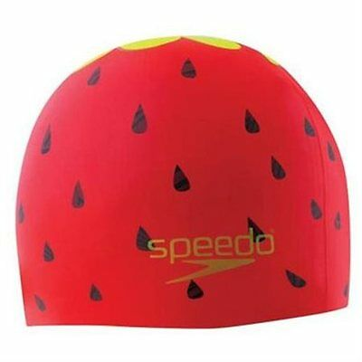 Speedo KIDS Fruit Punch Silicone Swim Cap Swimming New in Package