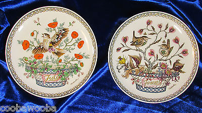 Hutschenreuther Ole Winther Months of the Year Wall 6 1/4 Plates January & July