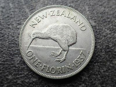 1936 New Zealand Florin  VF   (Lot 528)