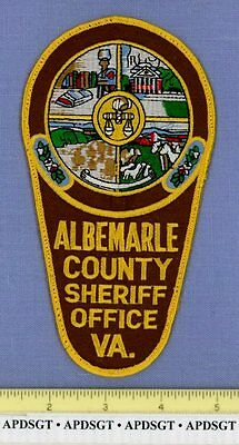 ALBEMARLE COUNTY SHERIFF VIRGINIA VA Police Patch HORSE COW COURTHOUSE