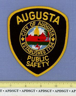 AUGUSTA DPS PUBLIC SAFETY MAINE ME Sheriff Police Patch INDIAN CANOE COURTHOUSE
