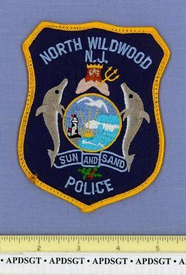 NORTH WILDWOOD NEW JERSEY NJ Police Patch NEPTUNE SEA GOD LIGHTHOUSE DOLPHIN