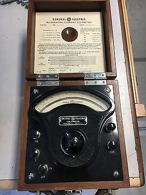 General Electric GE TYPE P-3 Voltmeter++ANTIQUE++ MFG 1950
