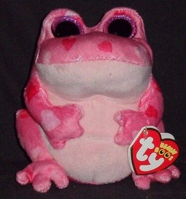 TY BEANIE BOOS BOO'S - SMITTEN the PINK FROG - MINT with TAG - NEW