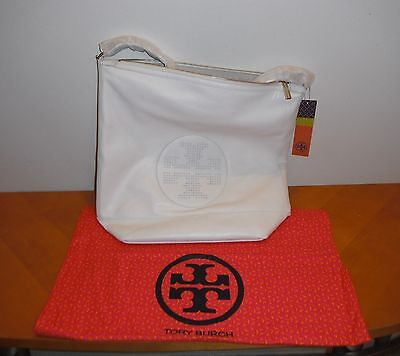 8af8f2949d32 Tory Burch Kipp Hobo New Ivory 102 White Purse Leather BRAND NEW AUTHENTIC  NWT