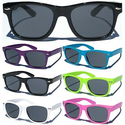 SMALL KIDS CHILD SIZE Sunglasses Color Frame Boys Girls Classic Retro Retro