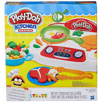New Hasbro Play-Doh Kitchen Creations Sizzlin' Stovetop B9014