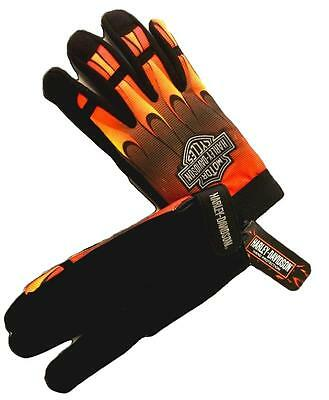 Harley Davidson Flames Mechanic Gloves TOTAL CLOSEOUT