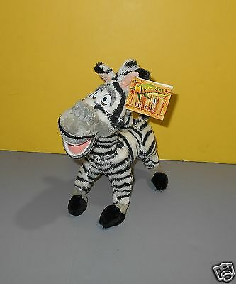"2005 Beanie Russ 9"" Madagascar Movie Character Marty The Zebra Stuffed Plush"