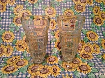 Maxwell House Glass Cappuccino Tall Soda Style Drinking Glasses Set Of 2
