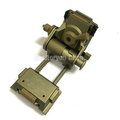 Tatical Airsoft FMA L4 G24 NVG Mount CNC for Fast OPS PJ MH BJ Mich Helmet