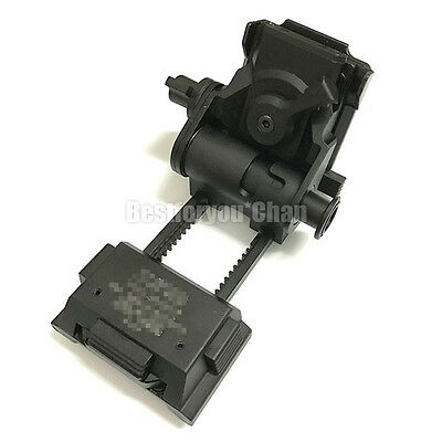 Tactical Airsoft Metal L4 G24 NVG Mount CNC Fast OPS PJ MH BJ Mich Helmet Black