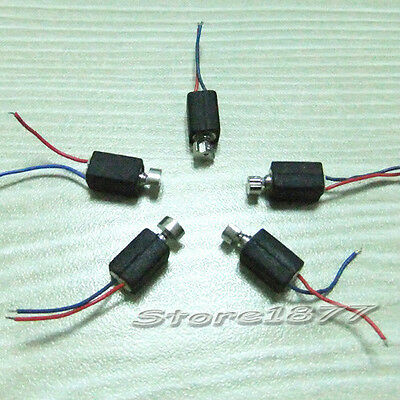 5pcs Pager and Cell Phone Vibrating Micro Motor 2.5V-4.0VDC With Two Leads s883