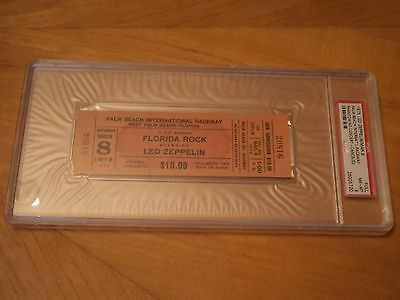 Led Zeppelin Authentic Psa Graded Unused Concert Ticket...not Fake...real Deal
