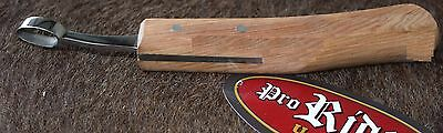 Horse Equine Wood SS Hoof Care Farrier Tool Abcess Loop Knife 98454