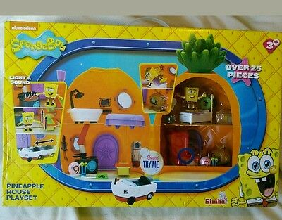 Spongebob Squarepants Pineapple House Playset with Lights & Sounds New