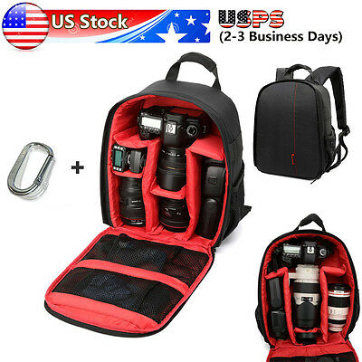 1PC Camera Bag Backpack Waterproof DSLR Case with Carabiner for Canon Nikon Sony