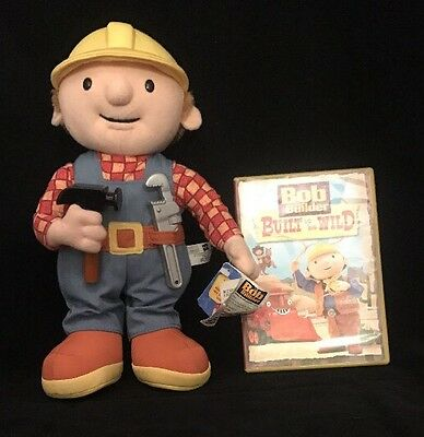 "Bob the Builder 12"" 2001 Talking Doll WORKS Well w/tags & DVD Built to be Wild"