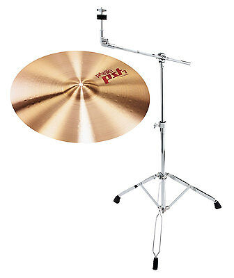 "TOP Paiste 14"" PST7 Crash Becken mit warmem Sound inkl. stabilem Galgenstativ"