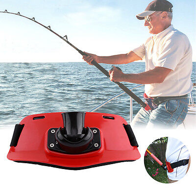 Red ABS Plastic Stand Up Fishing Waist Gimbal Pad Fish Belt Rod Pole Holder New